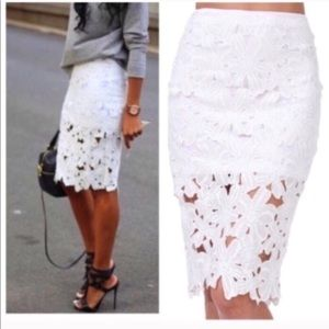 Vince Camuto Lace Skirt!